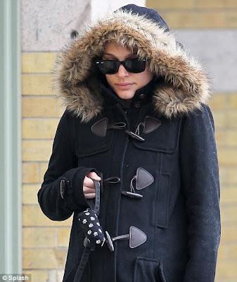Feeling chilly: Natalie