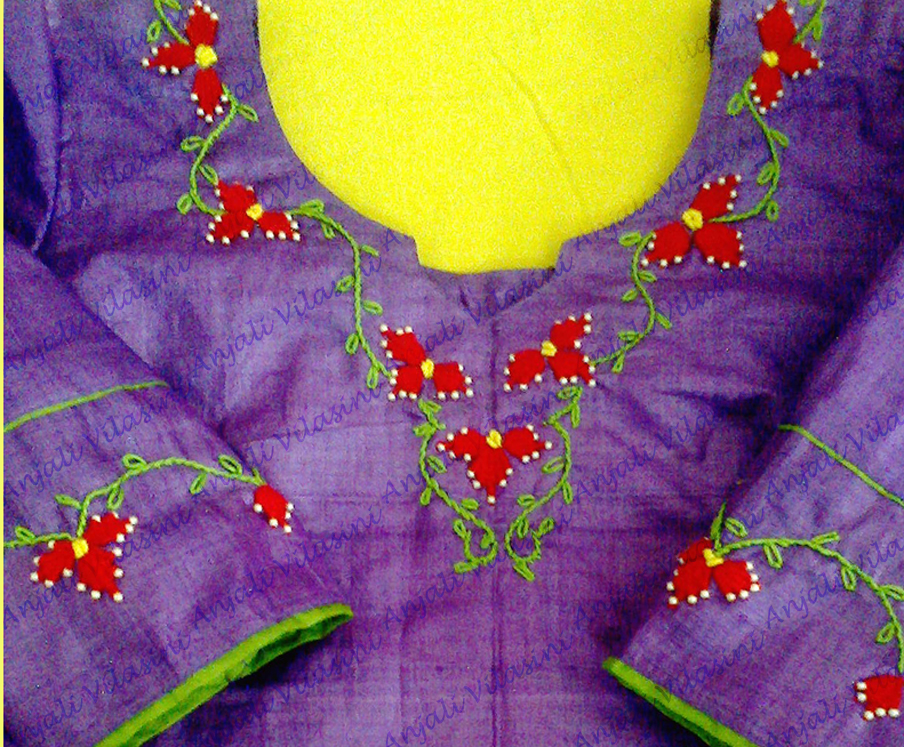Anjali vilasini embroidery kamal kadai