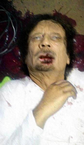Celebrity Dead Bodies Pictures Gaddafi dead