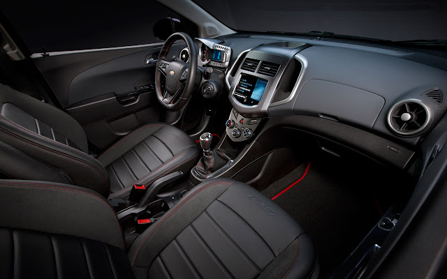 Turbocharged 2013 Chevrolet Sonic RS interior