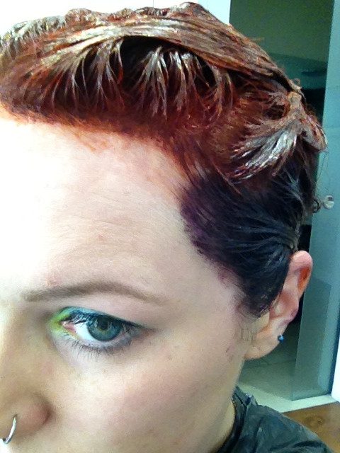 ThatRedheadSaid : mysalonlooks Hove hair colouring in progress