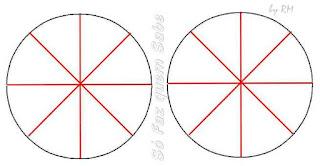 Dividindo cada uma das duas unidades em oito partes iguais.