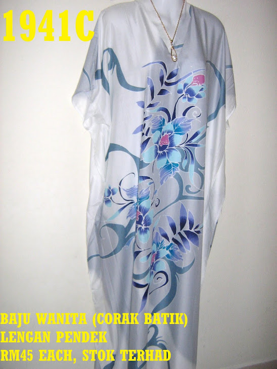 BB 1941C: BAJU WANITA BERCORAK BATIK, LENGAN PENDEK