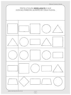 atividades de matematica conceitos igual e diferente