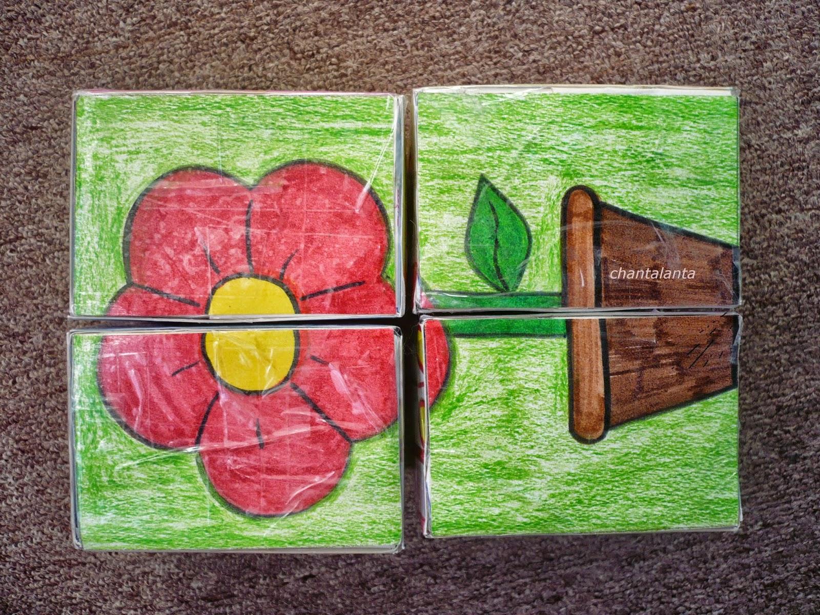 Как сделать цветок из кубика 444