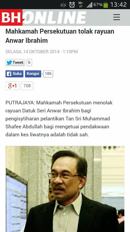 Walaupun takut hadapi Shafee Anwar tiada pilihan dan alasan lagi