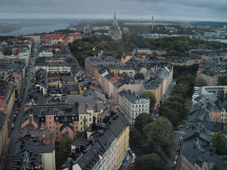 Stockholm From 26 Stories Up, September 2012