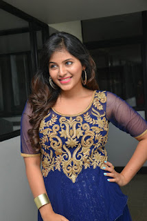 Anjali looks beautiful in a blue anarkali dress from piatrends.com at Dictator movie Launch event