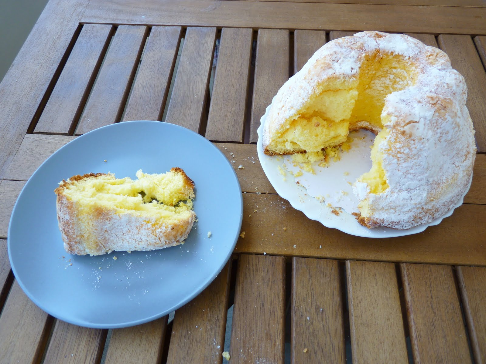 "Gateau de Savoie "", local version of angel food cake"
