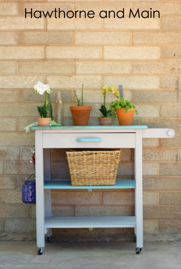 Marvelous Kitchen Cart Turned Gardening Station