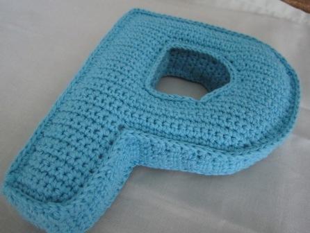 Crochet P : bigunki, amigurumis y ganchillo: Letra P en 3D