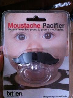 Moustache pacifier plastic baby dummy
