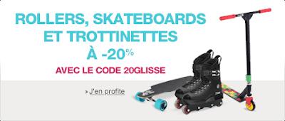 -20% sur les skateboards, rollers et trottinettes