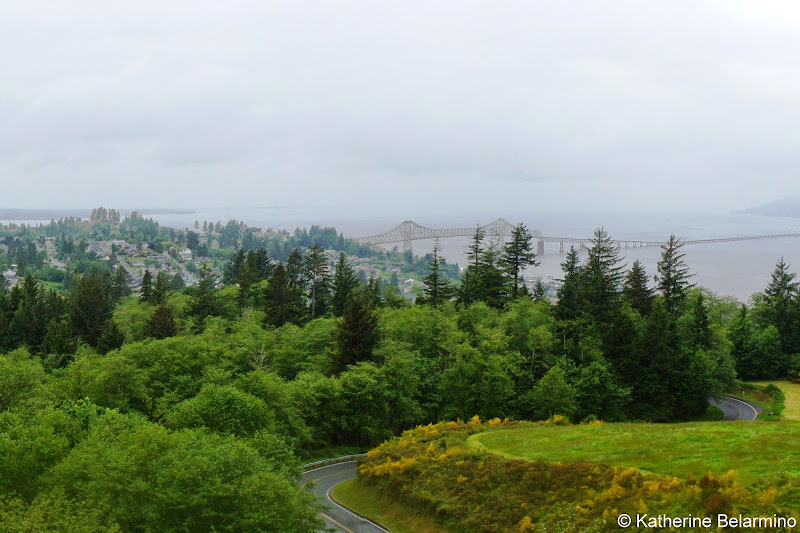 View of Astoria from Astoria Column Oregon