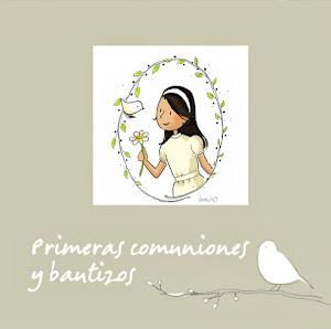 Ebook-muestrario de recordatorios de primeras comuniones, bautizos y baby showers