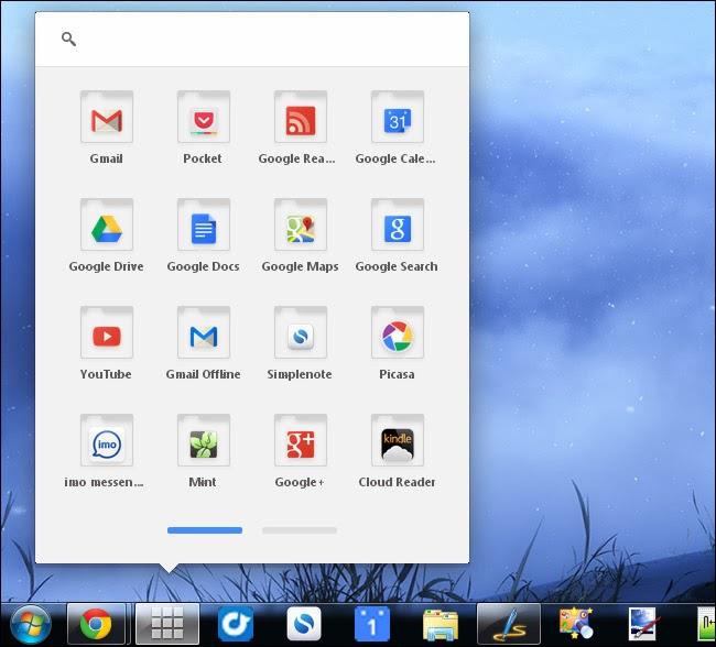 عرض تطبيقات متصفح google chrome على شريط المهام
