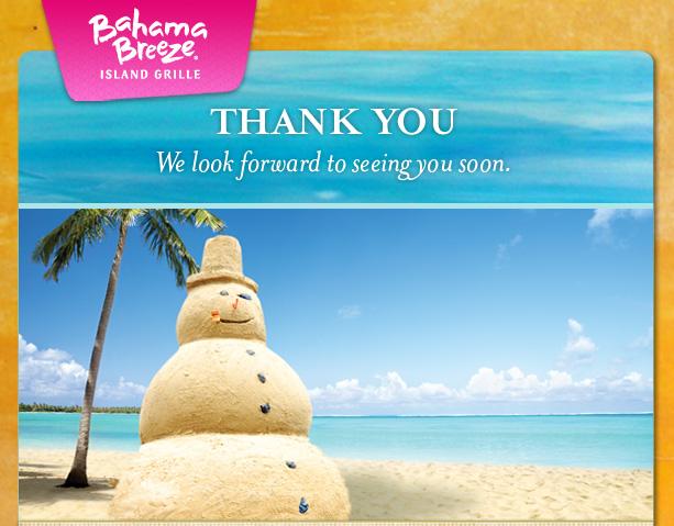 Bahama breeze coupon code 2018