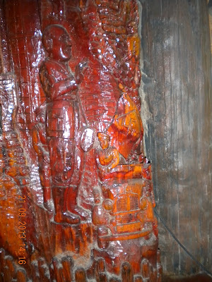 Wat Sangkhathan Nonthaburi วัดสังฆทาน นนทบุรี wood carvings Adolf Hitler