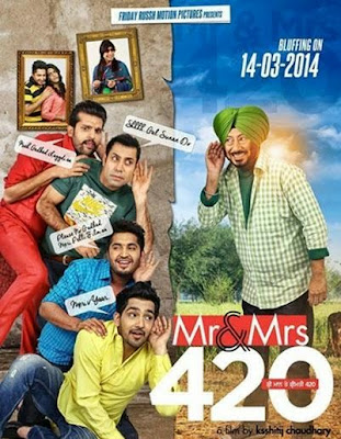 Poster Of Mr and Mrs 420 (2014) In 300MB Compressed Size PC Movie Free Download At worldfree4u.com