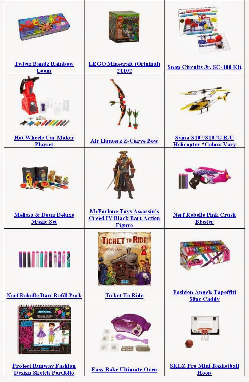 Best And Top Toys For Christmas 2013 - Age Range 8 to 13 Years
