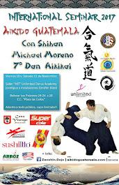 Afiche 15vo. Seminario Zanshin Dojo Aikido Guatemala
