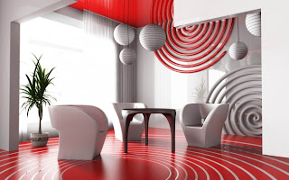 Red and White Living Room Designs4