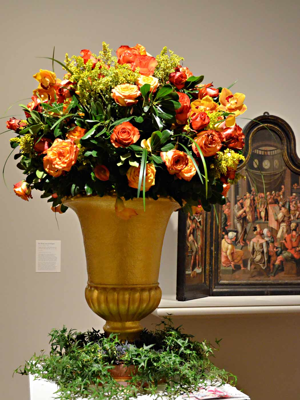 Milwaukee Art Museum Art in Bloom flower arrangement