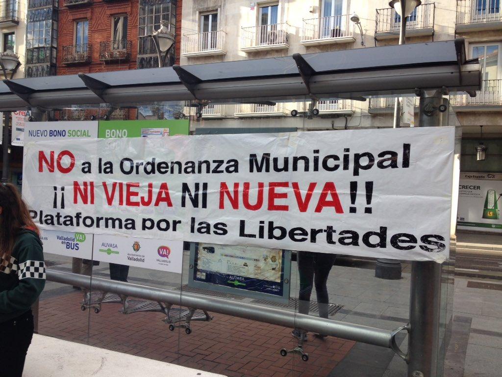 Comunicado: Ordenanza mordaza: El Ayuntamiento de Valladolid se obstina en perseguir la libertad de