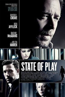 Capa do filme Intrigas de Estado (State of Play), dos Estados Unidos, com Russell Crowe e Ben Affleck