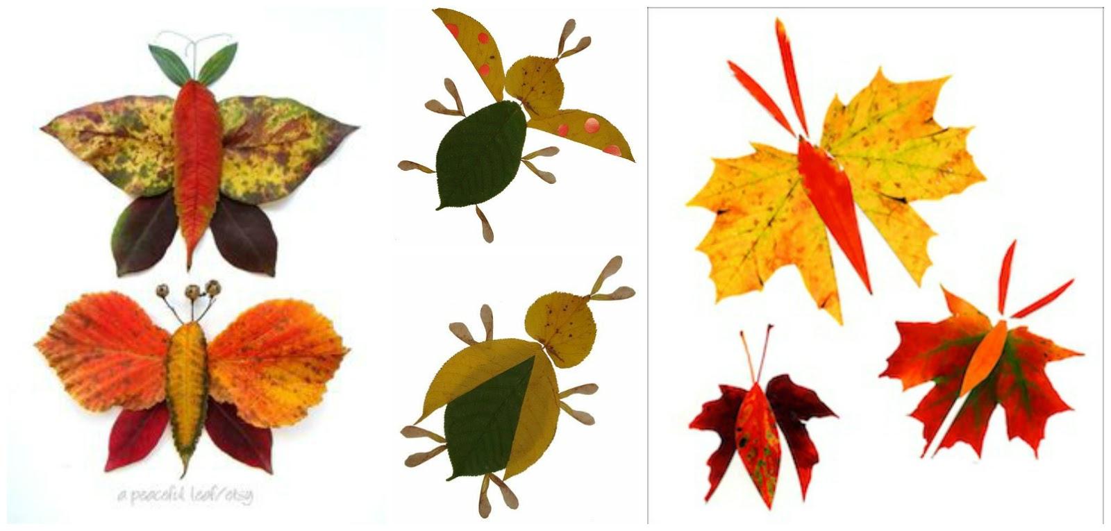 Поделки из листьев своими руками для садика
