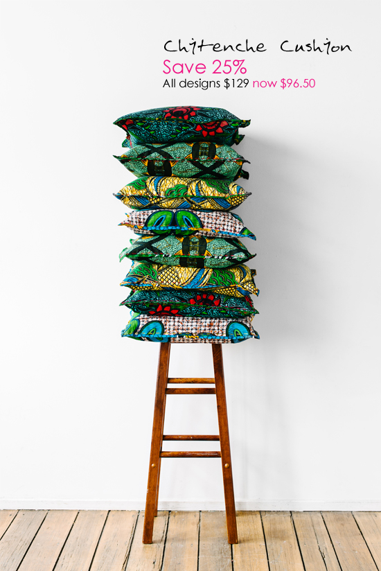 Safari Fusion blog | Safari Fusion annual SALE! | Save 25% on our Chitenche Cushions www.safarifusion.com.au