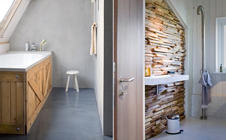 Arte y Arquitectura: Lavabos originales en madera y piedra