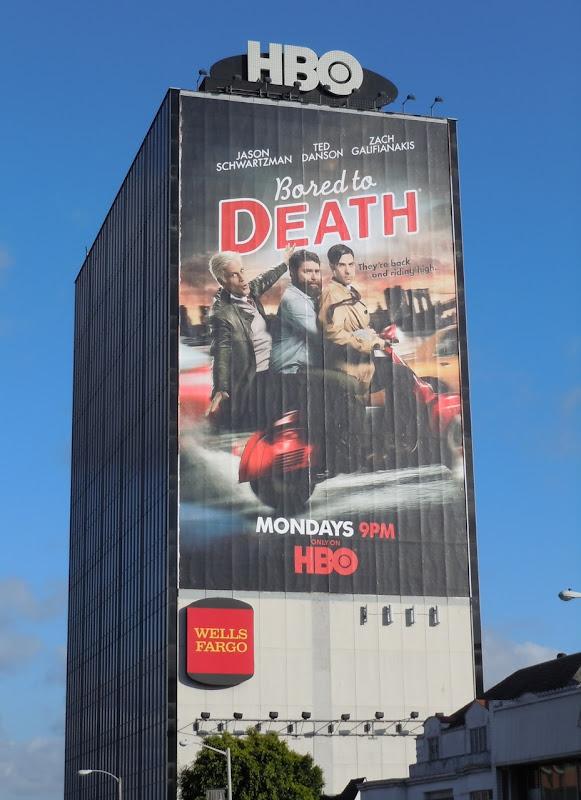 Giant Bored to Death season 3 billboard