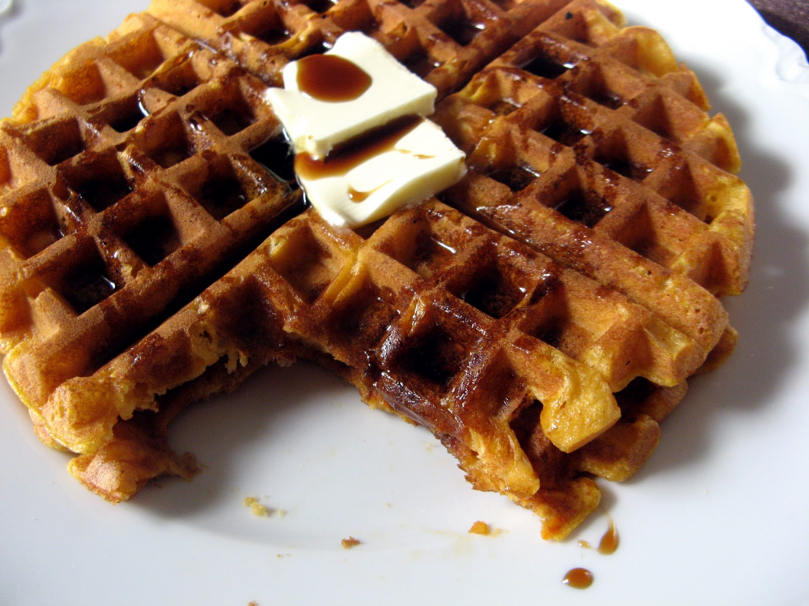 January new+115a Sweet Potato Waffles with Guinness Syrup