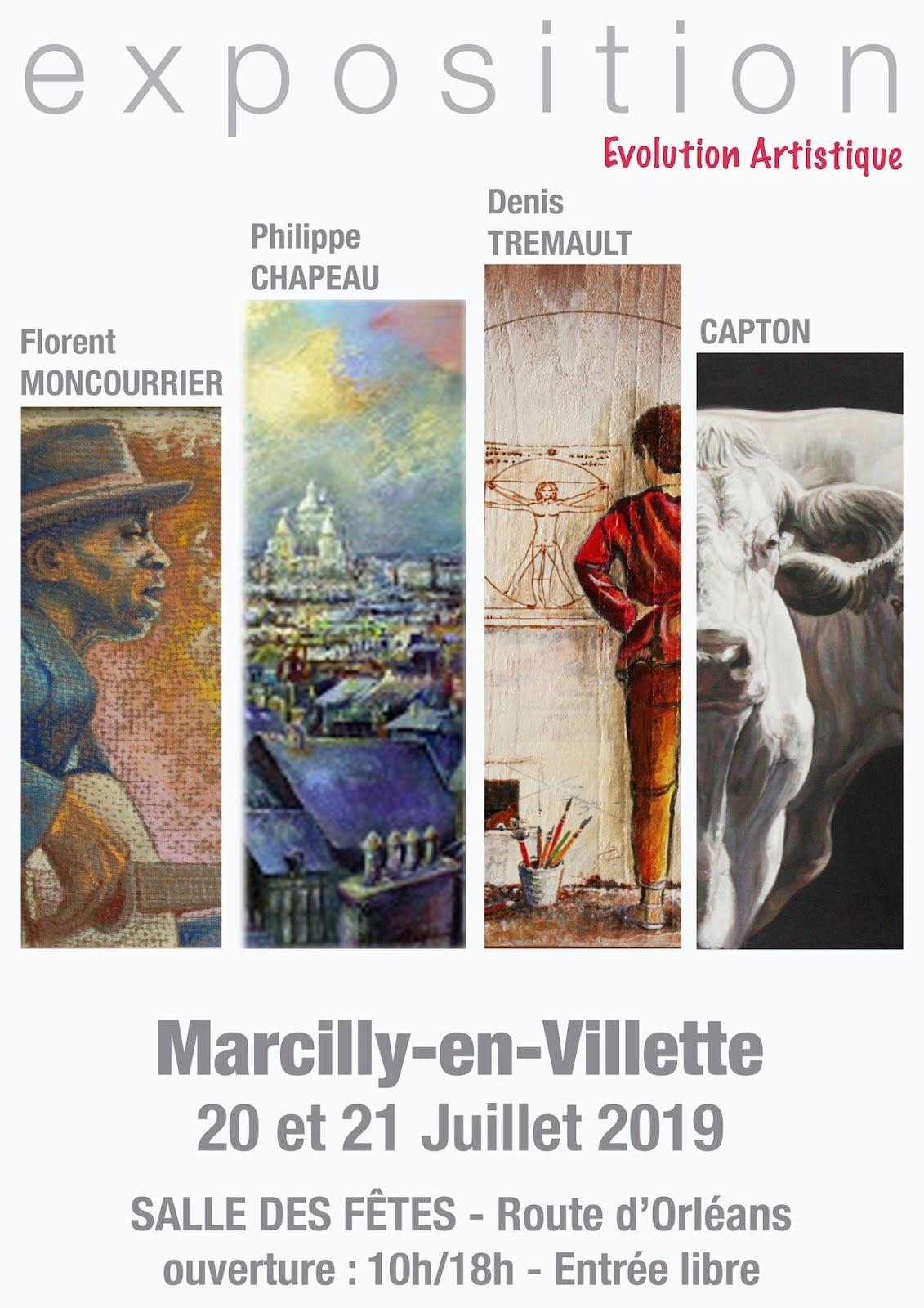 SOLOGNE : CAPTON, CHAPEAU, MONCOURRIER ET TRÉMAULT EXPOSENT À MARCILLY EN VILLETTE