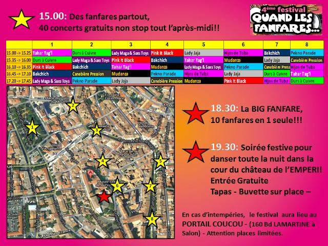 Programme du festival Mudanza 2015 : Quand les fanfares... Numéro 4