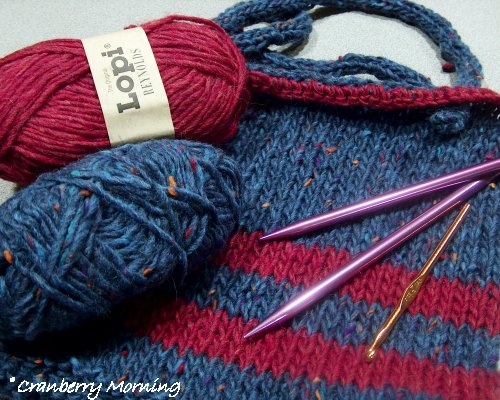 Yarn Supply : Cranberry Morning: Knitting a Felted Bag