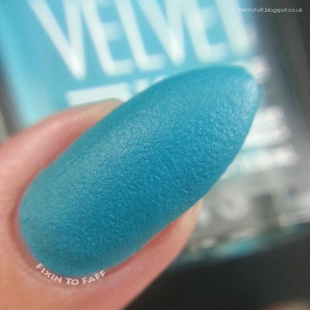 Macro swatch and review of Sally Hansen Velvet Texture Plush.