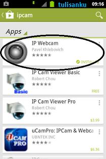 Membuat aplikasi android jadi CCTV Langkah 1