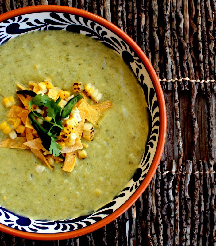 ... - Cooking with Green Garlic: Roasted Poblano and Green Garlic Soup