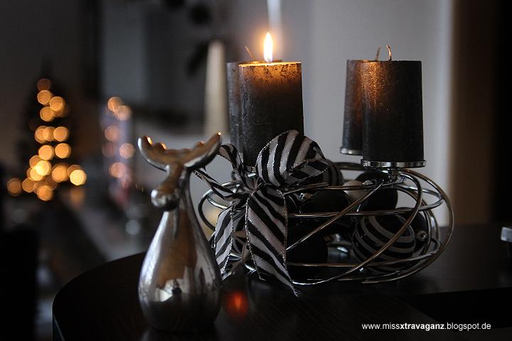 Interior adventskranz weihnachtsdeko miss von for Weihnachtsdeko schwarz