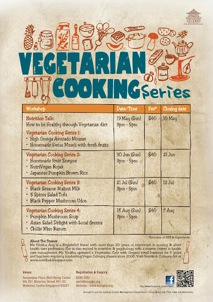 Vegetarian Cooking Series by Vinitha @ Awareness Place