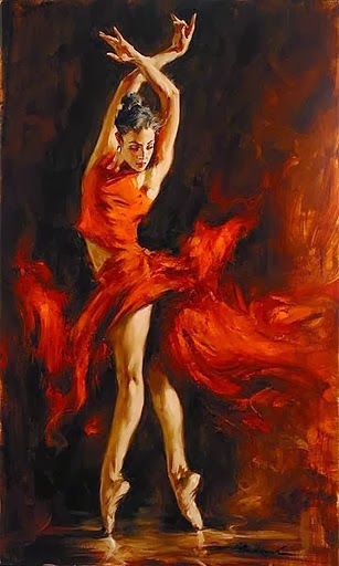 Oil Painting, Painting, Fiery Dance