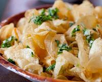 Batatas Chips com Alho (vegana)