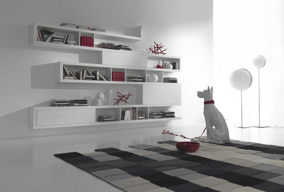 Domus arredi una nuova idea da fimar una libreria con for Libreria a muro sospesa