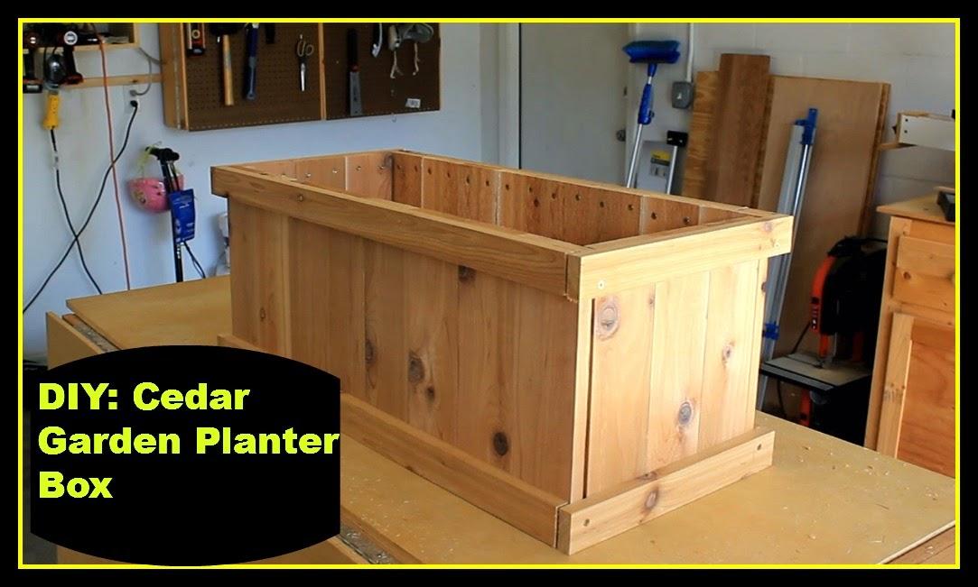 DIY Cedar Garden Planter Box