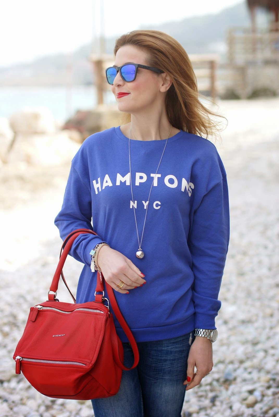 Pull & Bear hoodie, Luca Barra necklace, Fashion and Cookies fashion blog, fashion blogger style, Hamptons hoodie