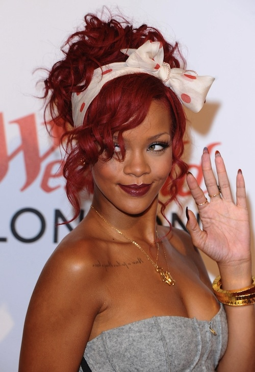 rihanna red hairstyles : ... Hairstyles, Hot Fashion: Celeb Red Ombre Hairstyles ----Ombre Hair