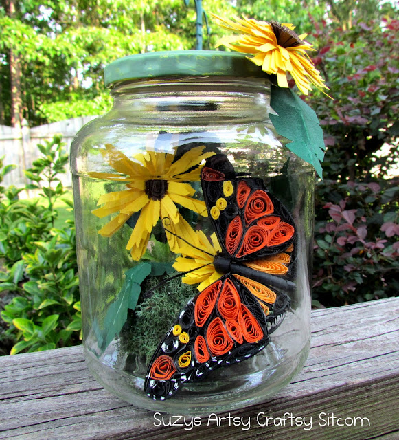 quilling arts: quilled bug in a jar tutorial