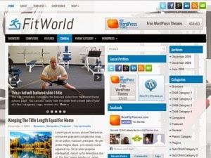 FitWorld - Free Wordpress Theme